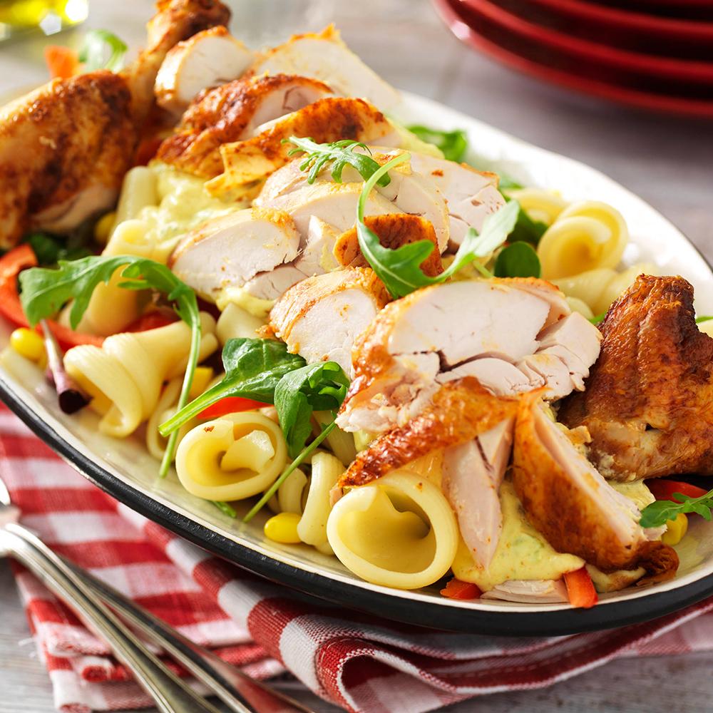 pastasallad med kyckling