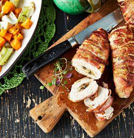 Baconlindad fylld kyckling