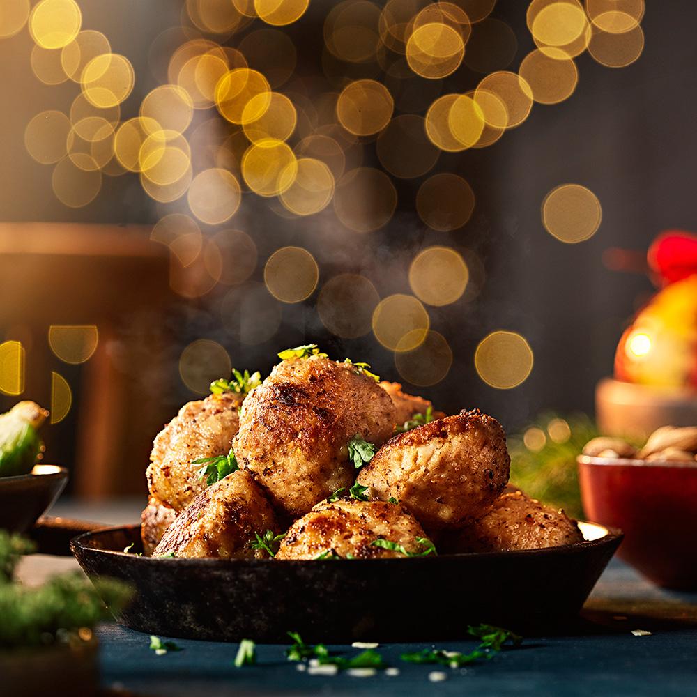 julköttbullar med mandel