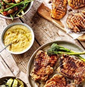 KycklingSteak Tryffel med sotade bönor och rostad potatis
